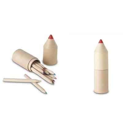 Set 12 matite in confezione a forma di matita