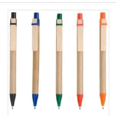 Penne a scatto, in cartoncino con clip in legno