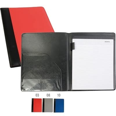 Cartella meeting portablocco A4 ( blocco incluso) con tasca e asola portapenne interne