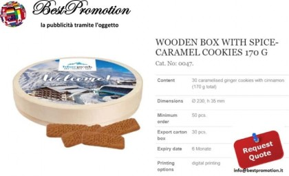 Woden Box Caramel Cookies