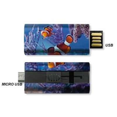 USB stick and micro USB stick in one