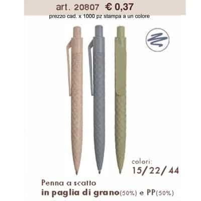 Penna scatto in paglia di grano (50%) e PP(50%)