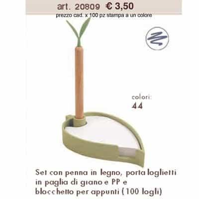 Set con Penna - Porta Foglietti - Blocchetto