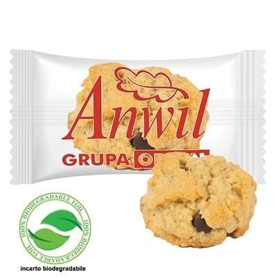 Biscotto friabile con gocce di cioccolato