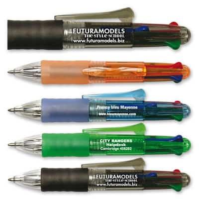Penna a sfera 4 colori rainbow