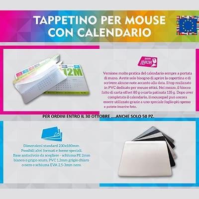 Tappetino per Mouse con Calendario
