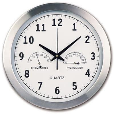 Orologio da parete in alluminio e vetro