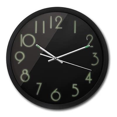Orologio da parete all black