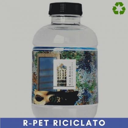 250 ml con etichetta con film plastico trasparente