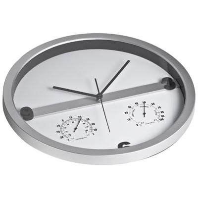 Orologio da parete in abs con termometro e igrometro