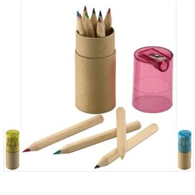 12 matite colorate e temperino