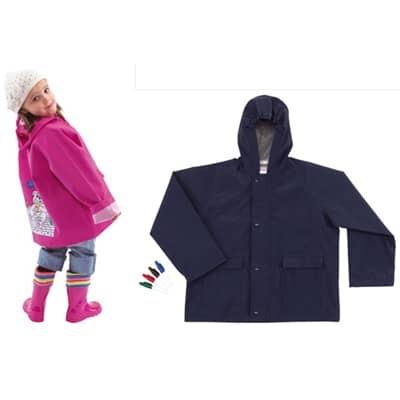 Giacca a vento per bambini con inserto da dipingere e 4 colori per tessuti
