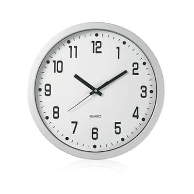 Orologio da parete in plastica silver