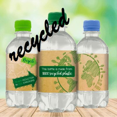 330 ml in PET prodotto con bottiglie riciclate