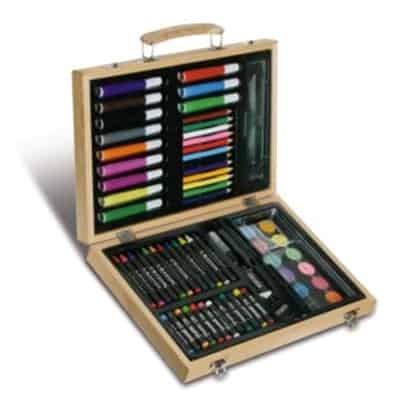 Set da disegno in valigetta di legno