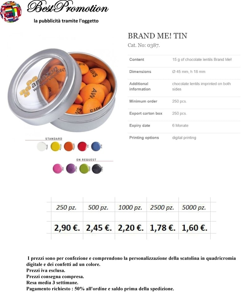 Brand Me! Tin personalizzato