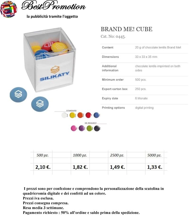 Brand Me! Cube personalizzato