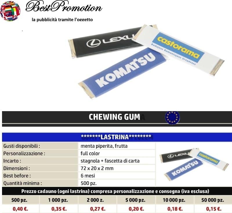Chewing Gum Lastrine personalizzato