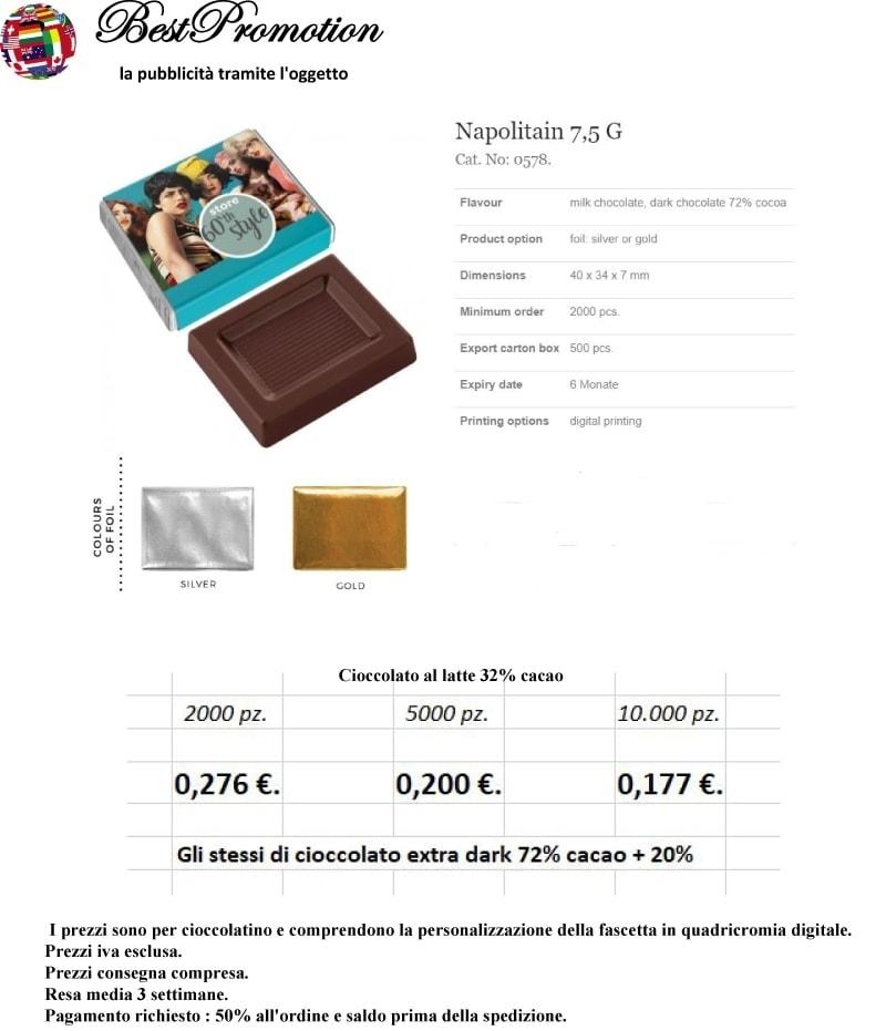 Napolitaner 7,5 gr. personalizzato