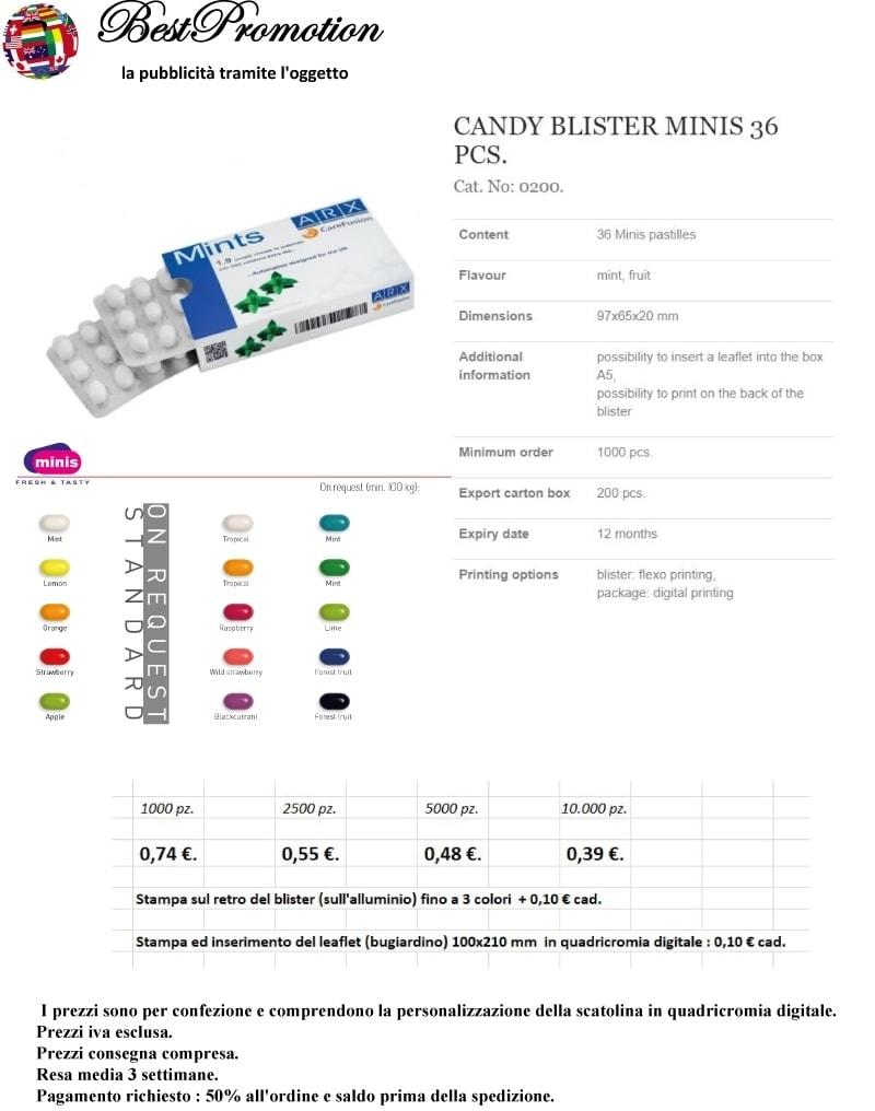 3_0200 Candy Blister 36 personalizzato