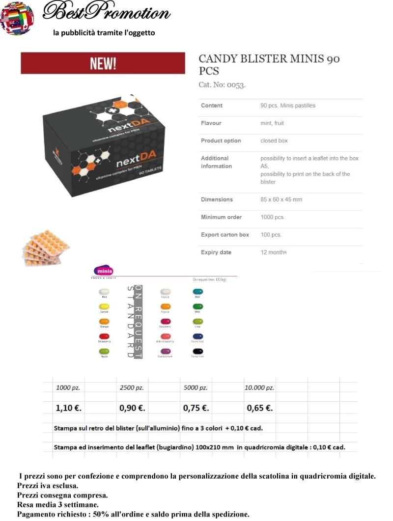 Candy Blister Minis 90 pz. personalizzato