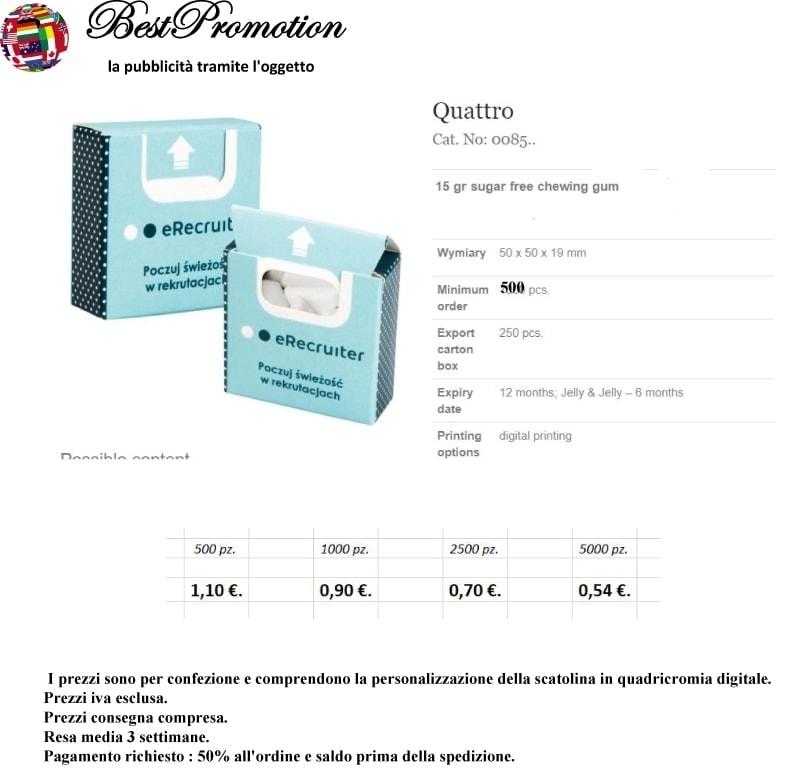 Quattro Gum personalizzato