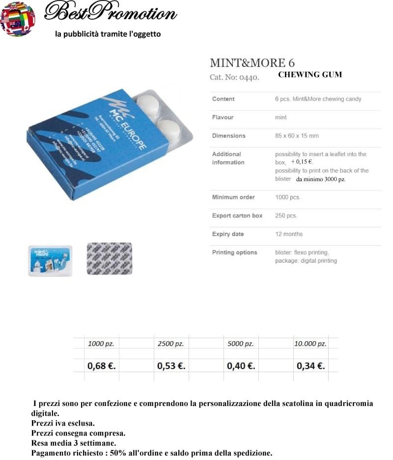 Mint&More 6 pz. personalizzato