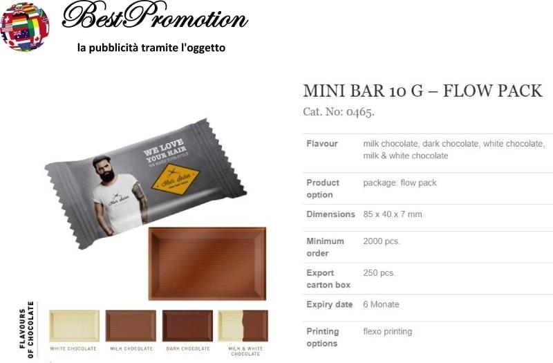 Mini Bar Flow Pack 10 gr. personalizzato