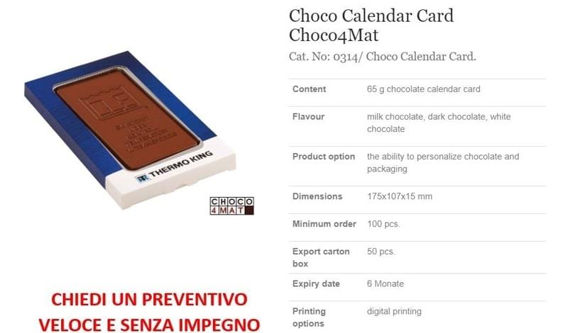 Choco Calendar Card Choco4Mat