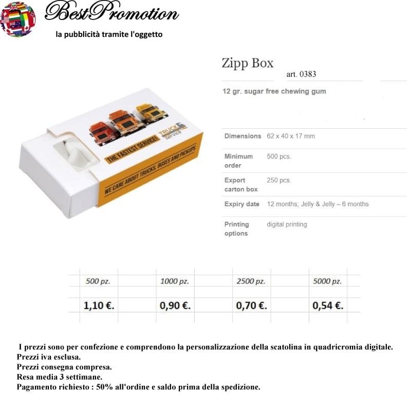 Zipp Box Gum personalizzato