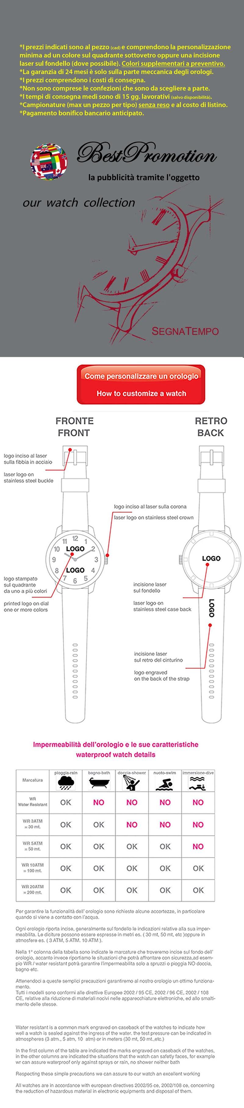 legenda orologi da polso personalizzati