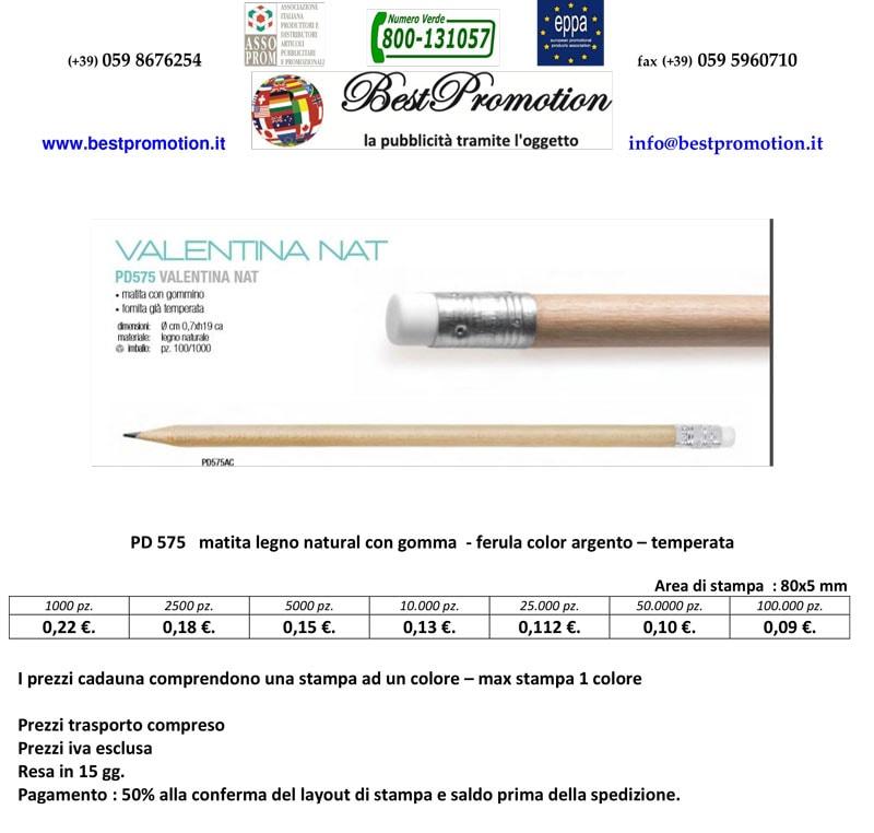 matita in legno personalizzata