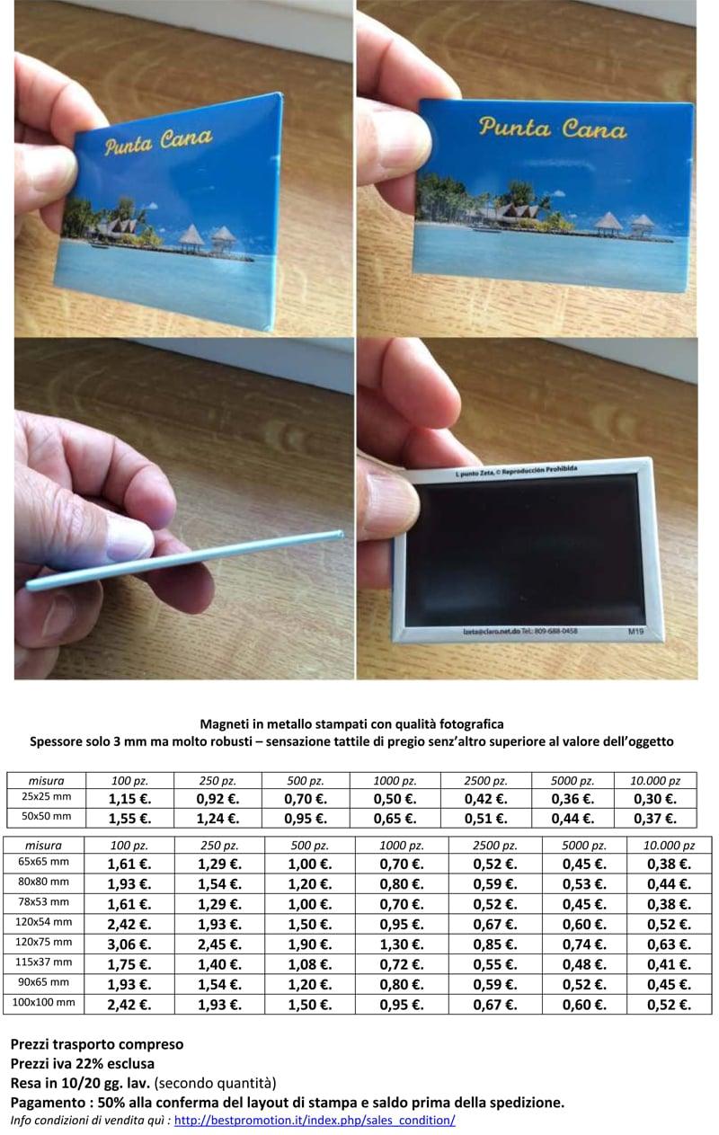 Magneti in Metallo Personalizzati