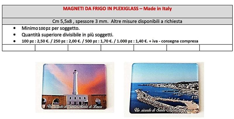 magneti in plexiglass personalizzati prezzi