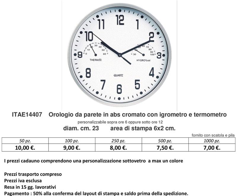 Orologio da parete con igrometro e termometro personalizzato