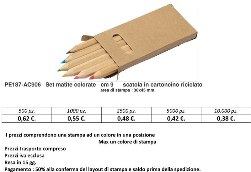 Set matite colorate personalizzato