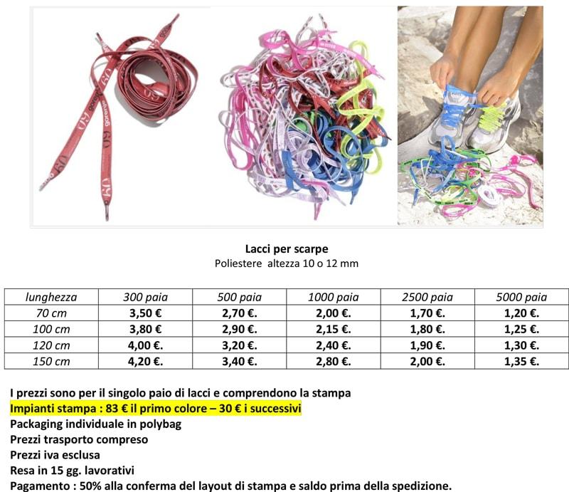 Lacci per Scarpe Personalizzati