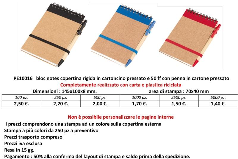block notes ecologico personalizzato