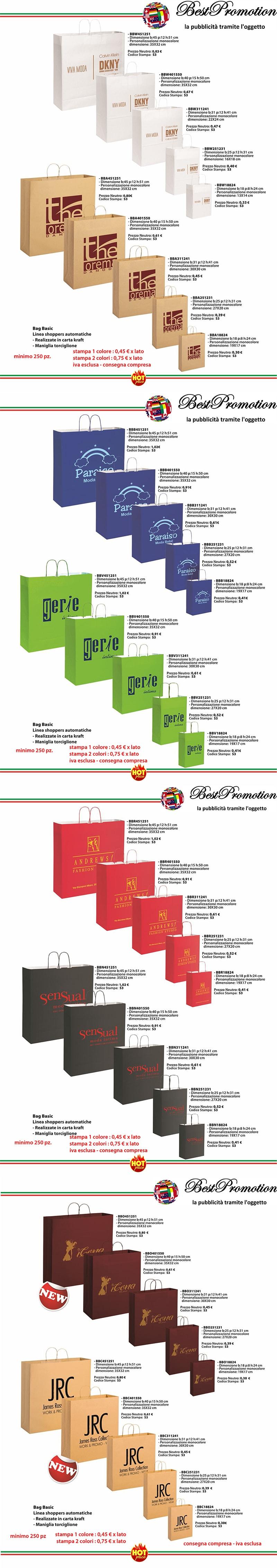catalogo shopper personalizzate