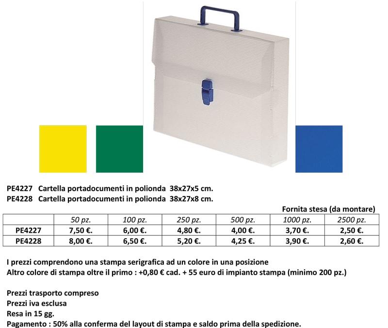 Cartellina portadocumenti in polionda personalizzata