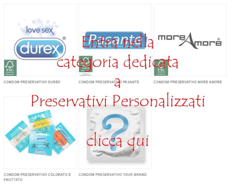 preservativi personalizzati