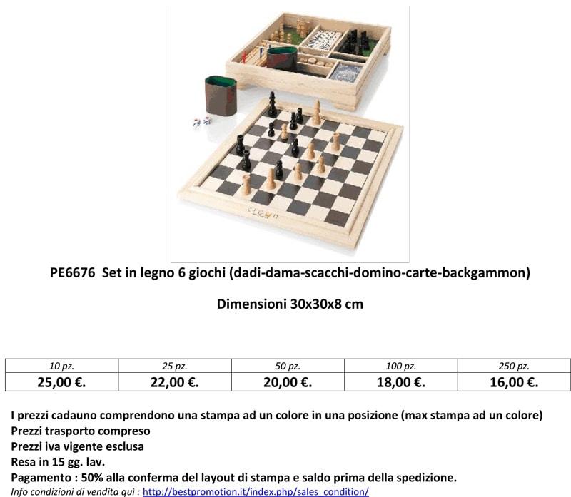 dadi dama scacchi domino carte backgammon personalizzati