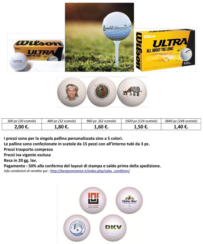 Scheda palline da golf professionali personalizzate