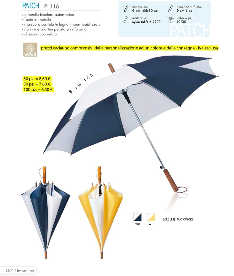 ombrello bicolore personalizzato