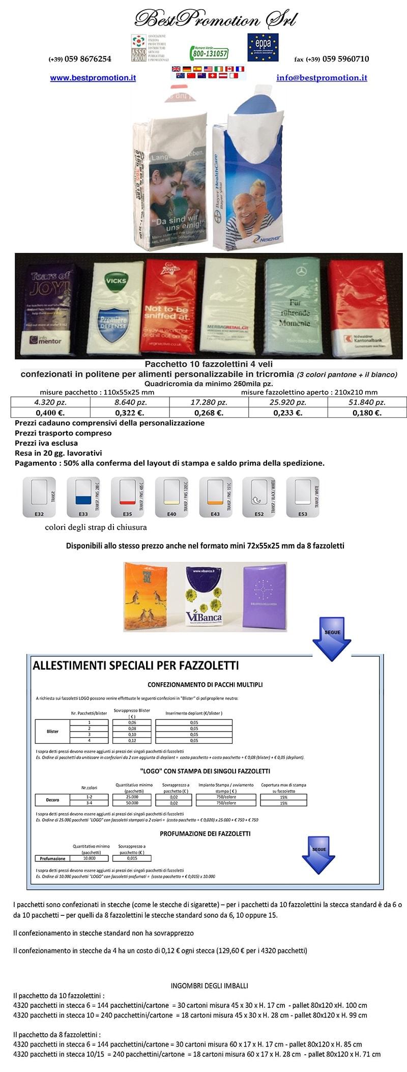 pacchetto 10 fazzolettini 4 veli kleenex personalizzato