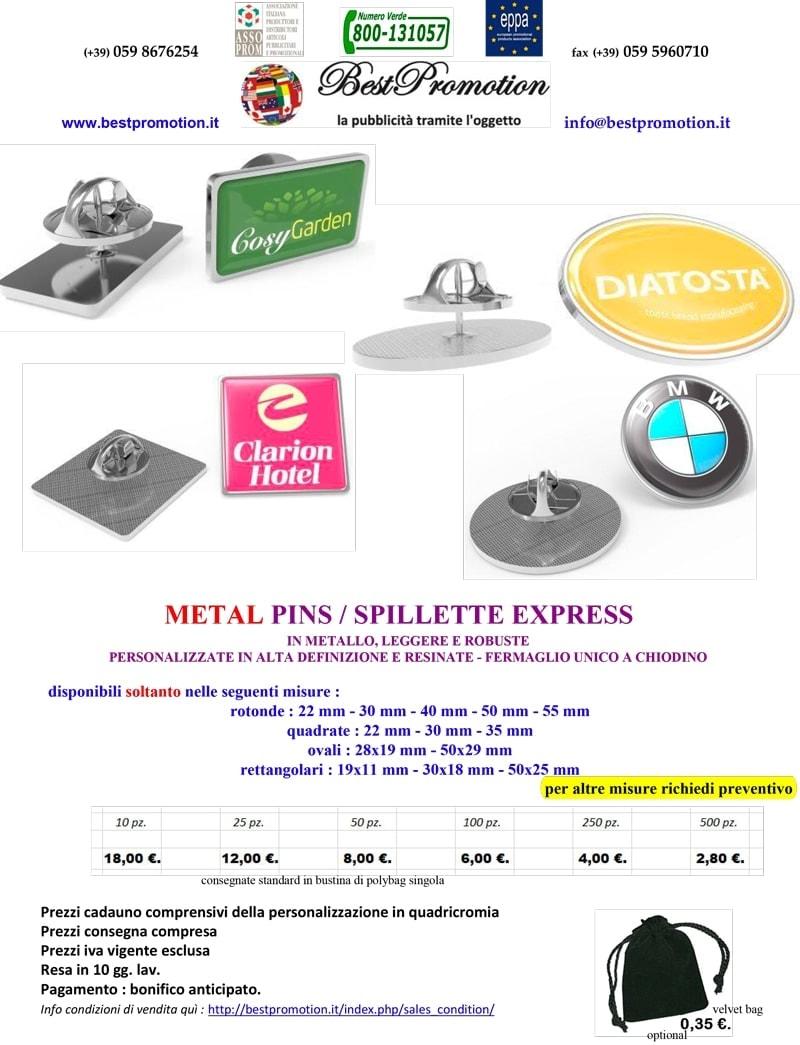 METAL PINS / SPILLETTE EXPRESS